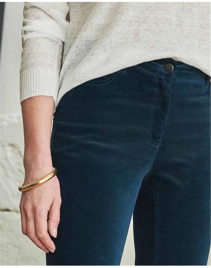 Washed Velvet Jean