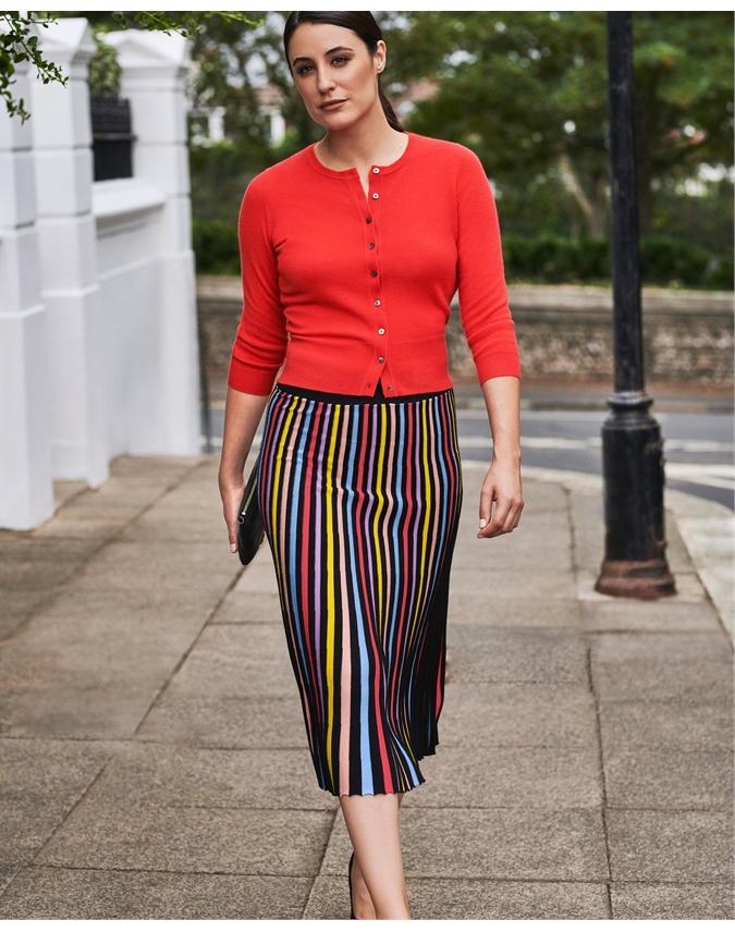 Knitted Pleat Skirt