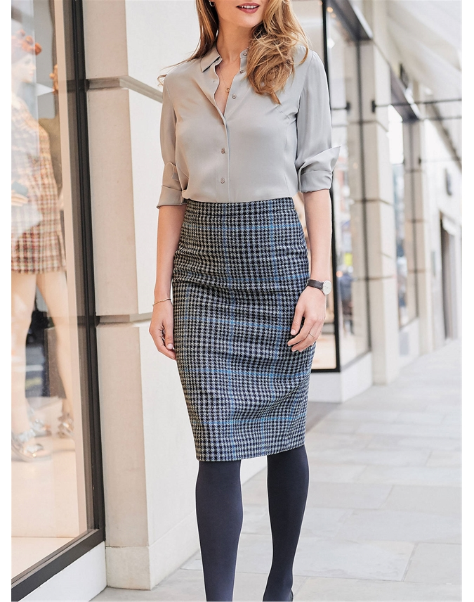 Wool Pencil Skirt
