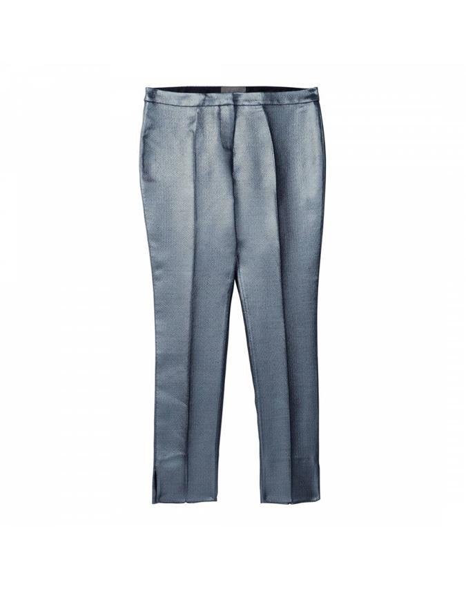 Metallic Ankle Length Trouser