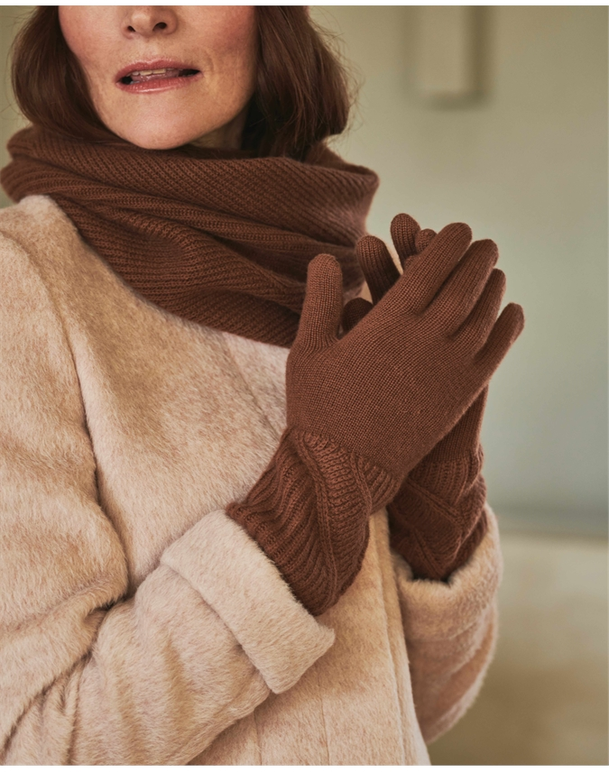 Organic Ribbed Gloves