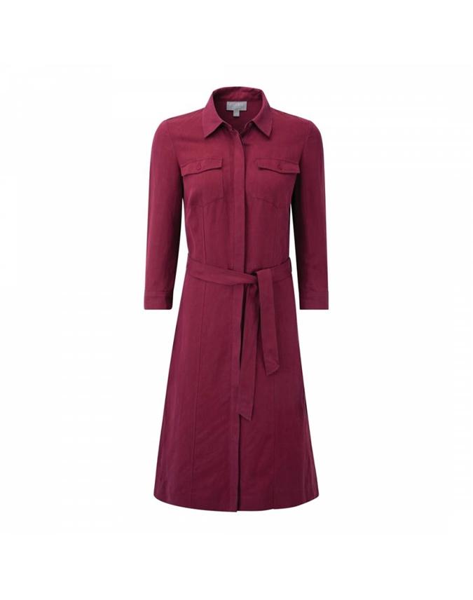 Silk Linen Shirt Dress