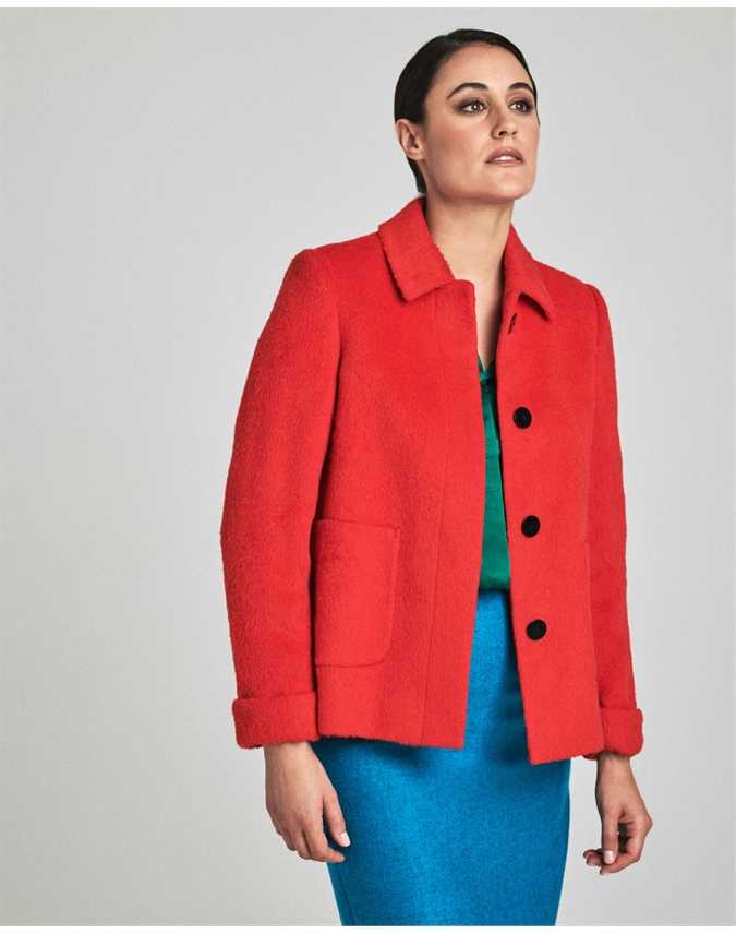 Collared Swing Coat