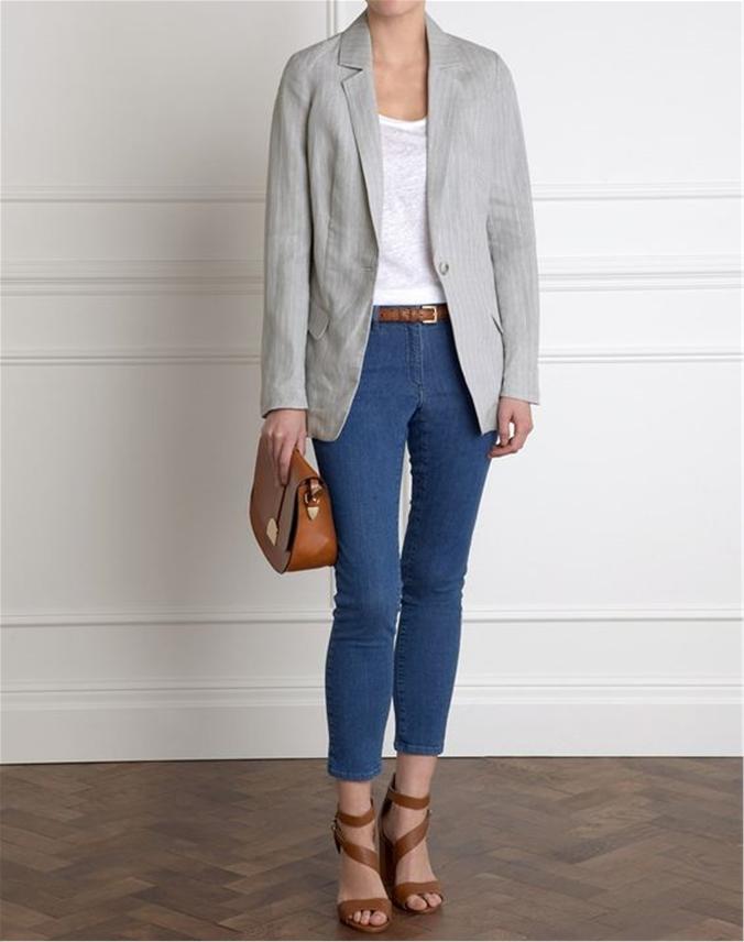 Longline Linen Jacket