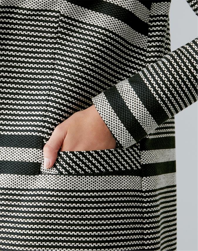 Longline Striped Jacket