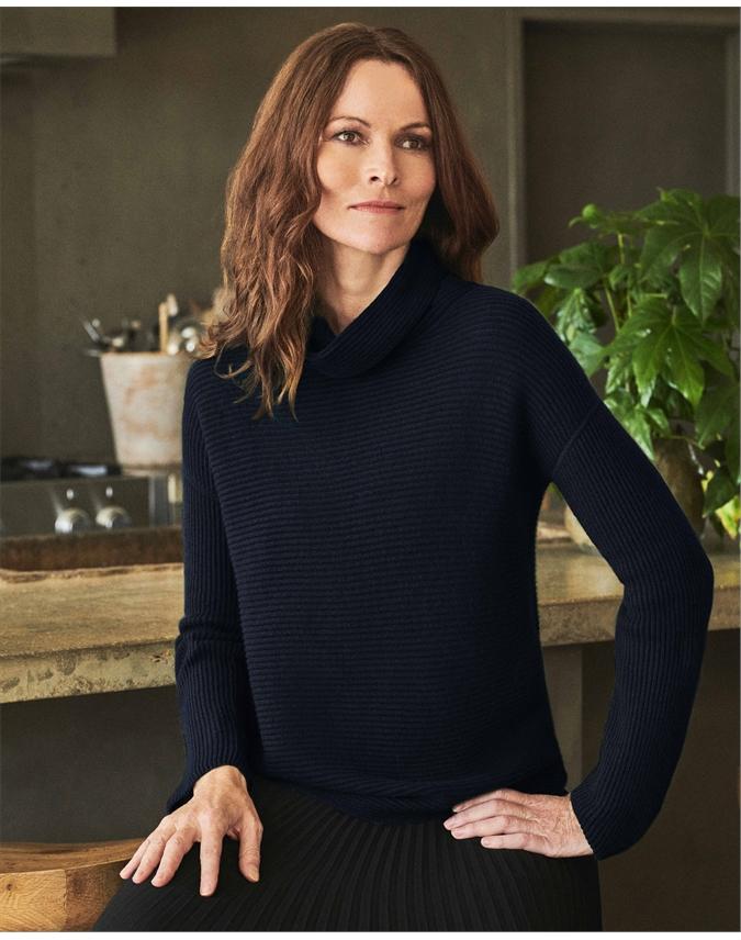 Gassato Ribbed Bardot Sweater
