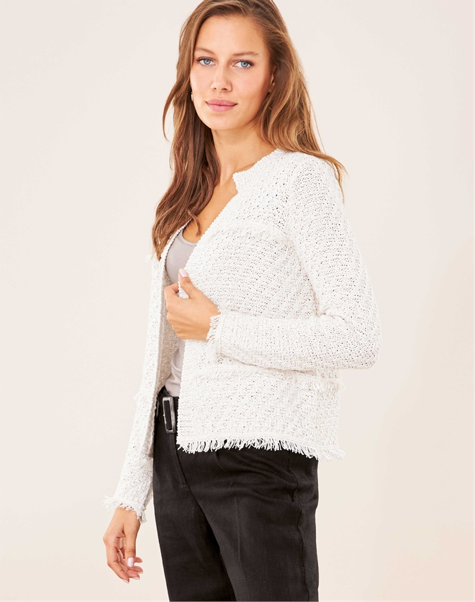 Fringed Knitted Jacket