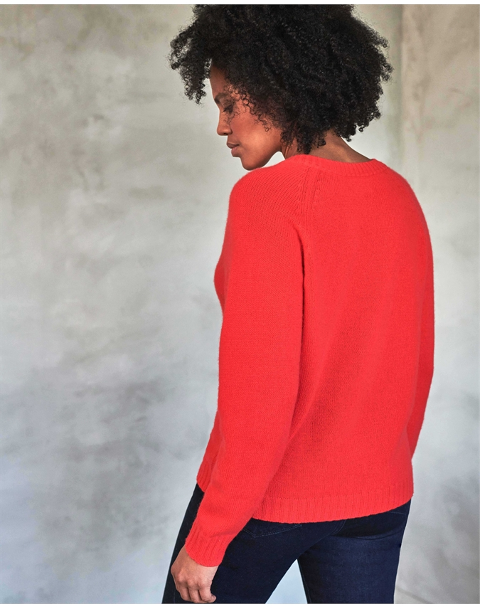 Cashmere Lofty V Neck Sweatshirt