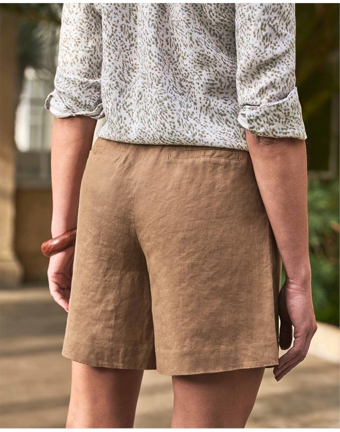 Laundered Linen Shorts
