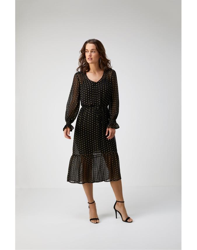 Georgette V Neck Midi Dress