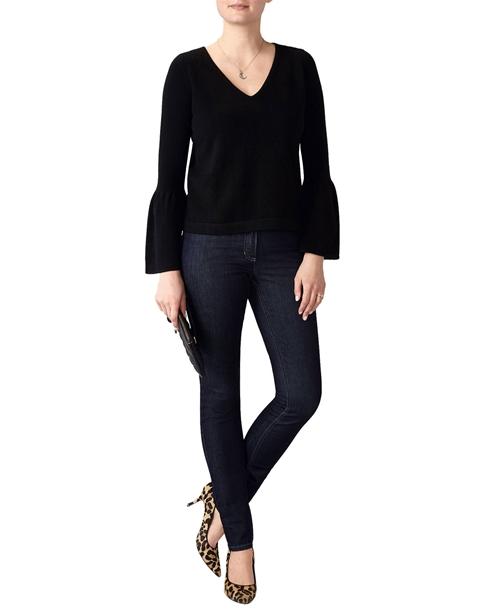 Flute Sleeve Cashmere Sweater