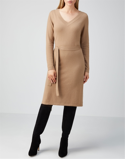 Cashmere V Neck Dress
