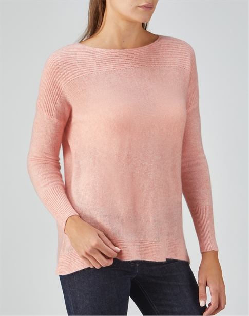Organic Cashmere Rib Detail Sweater