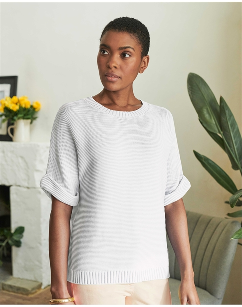 Washed Cotton Textured T-Shirt