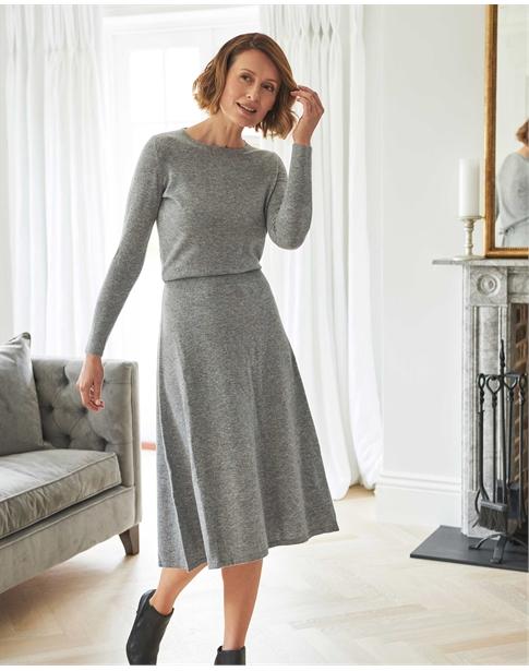Knitted Blouson Dress