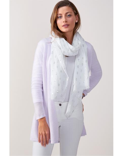 Soft Cotton Lurex Spot Scarf