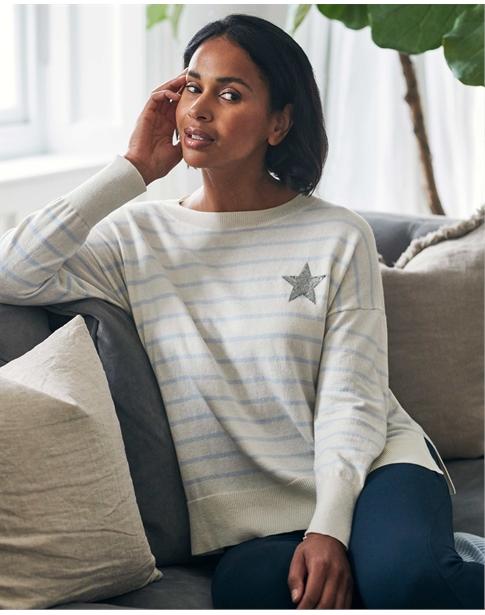 Relaxed Split Hem Sweater