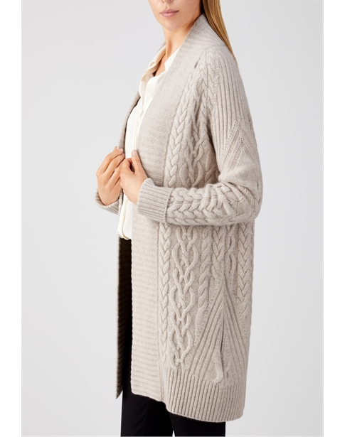 Cashmere Luxe Cable Cardigan