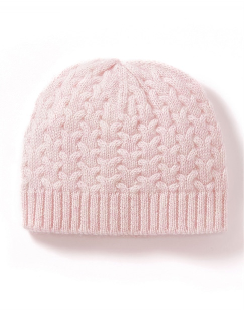 Cashmere Baby Cable Hat