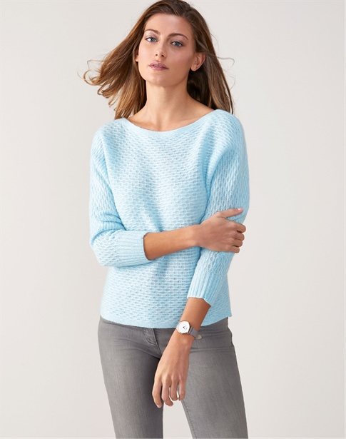 Cashmere Micro Cable Sweater
