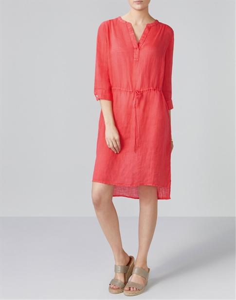 Laundered Linen Drawstring Dress