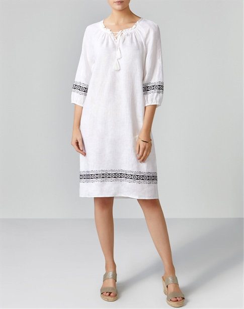 Laundered Linen Embroidered Tunic