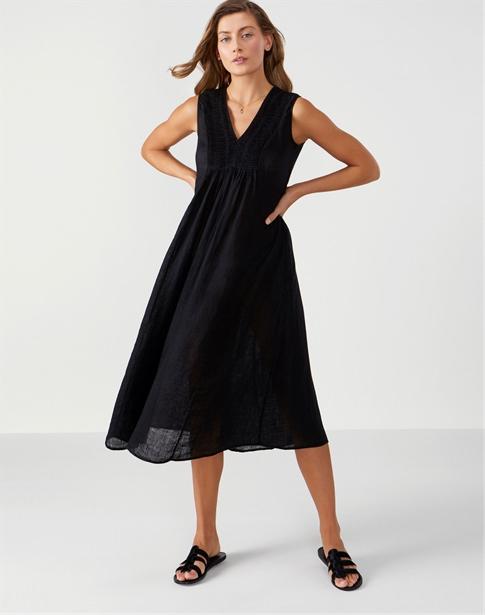 Laundered Linen Midi Dress