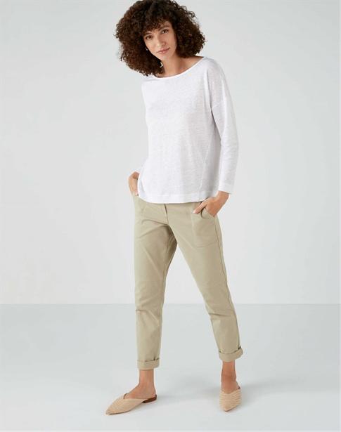Linen Jersey Boatneck Top