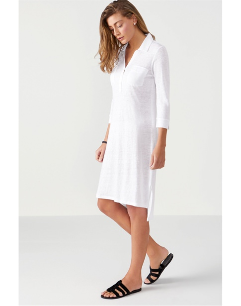 Linen Jersey Pocketed Tunic