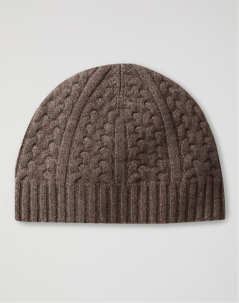 Mens Cashmere Cable Hat
