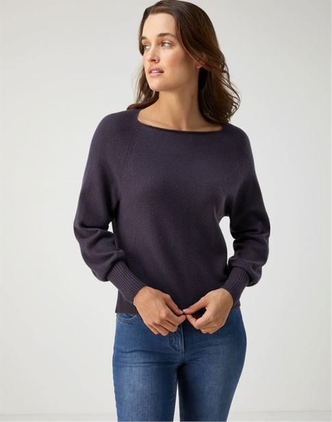 Organic Cashmere Square Neck Sweater