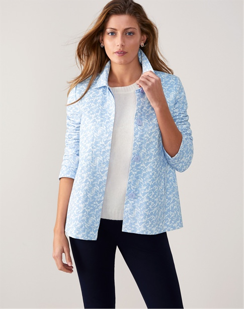 Soft Cotton Collared Jacket