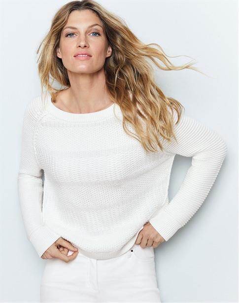 Soft Cotton Textured Sweater