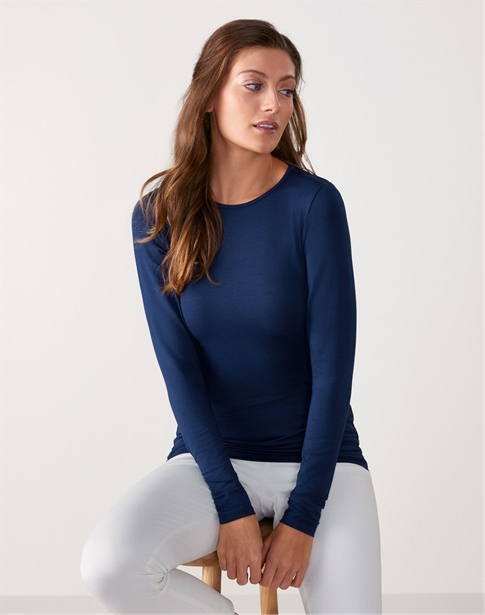 Soft Jersey Crew Neck Top