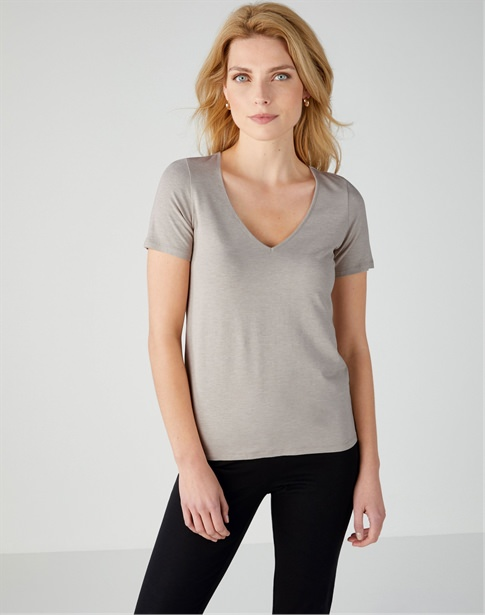 Soft Jersey V Neck Top