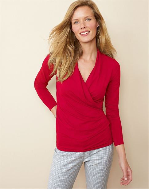 Soft Jersey Wrap Top