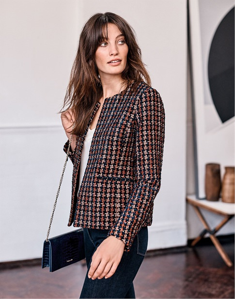 Textured Check Jacket