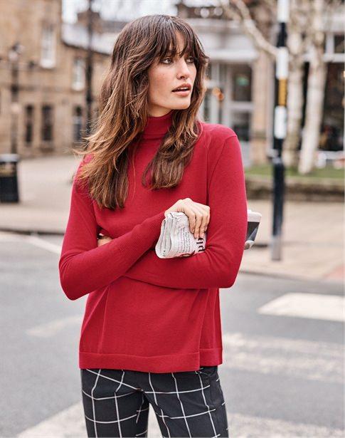 Ultra Soft Merino Polo Sweater