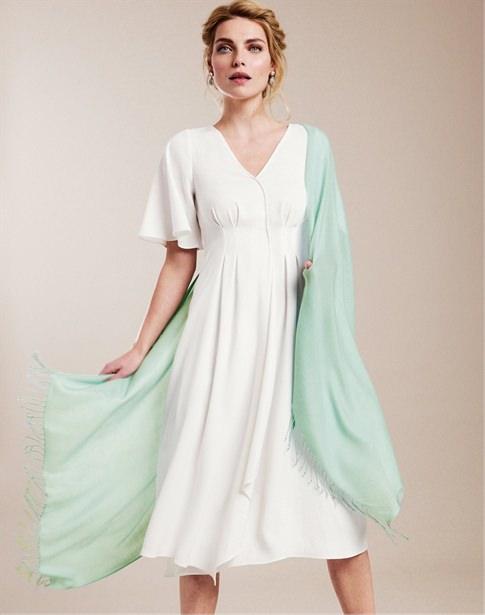 V Neck Soft Crepe Dress