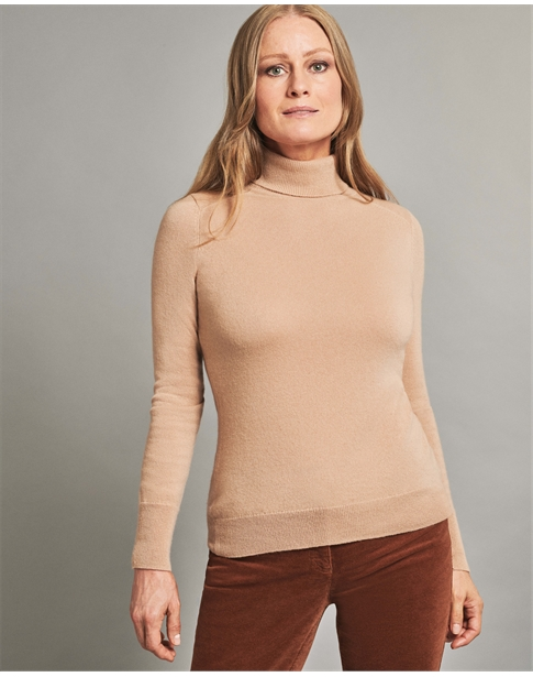 Womens Cashmere Turtle Neck Sweater