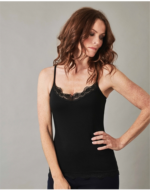 Womens Lace Jersey Camisole