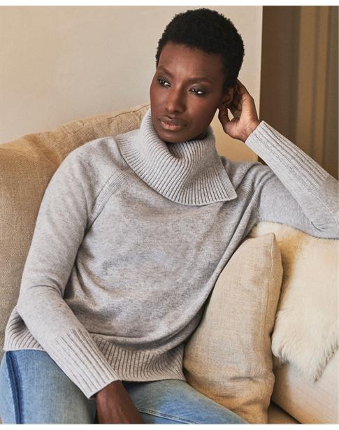 Cashmere Statement Neck Sweater