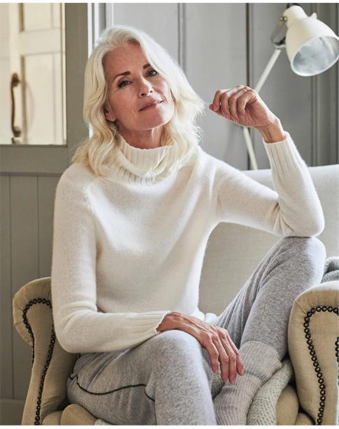 Organic Cashmere Lofty Polo Sweater