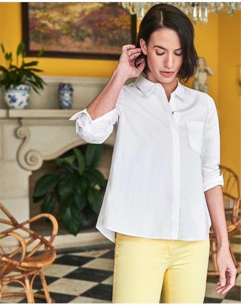 Cotton Poplin Swing Shirt