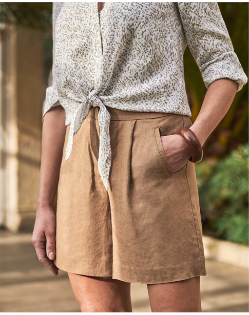 Laundered Linen Shorts