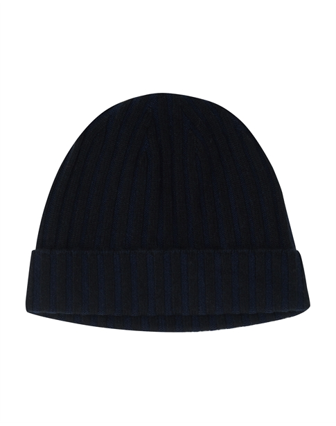 Mens Cashmere Ribbed Hat