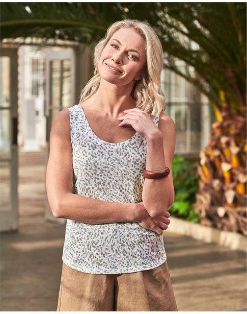 Linen Jersey Luxury Vest