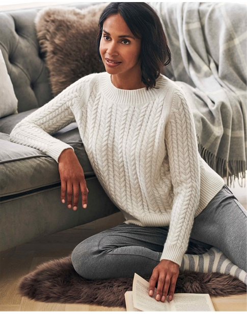 Lofty Cashmere Cable Jumper
