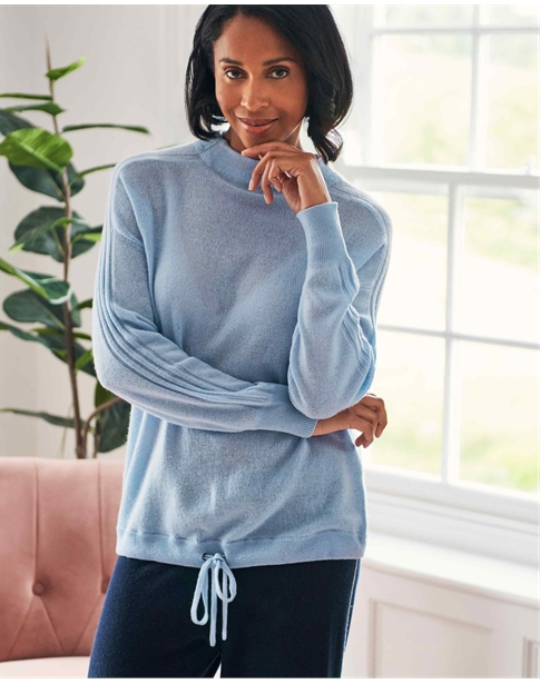 Organic Gassato Cashmere Drawstring Sweater
