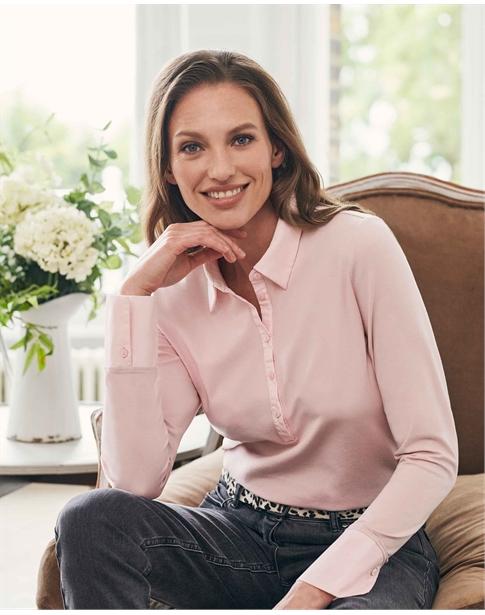 Organic Jersey Shirt With Cotton Trim